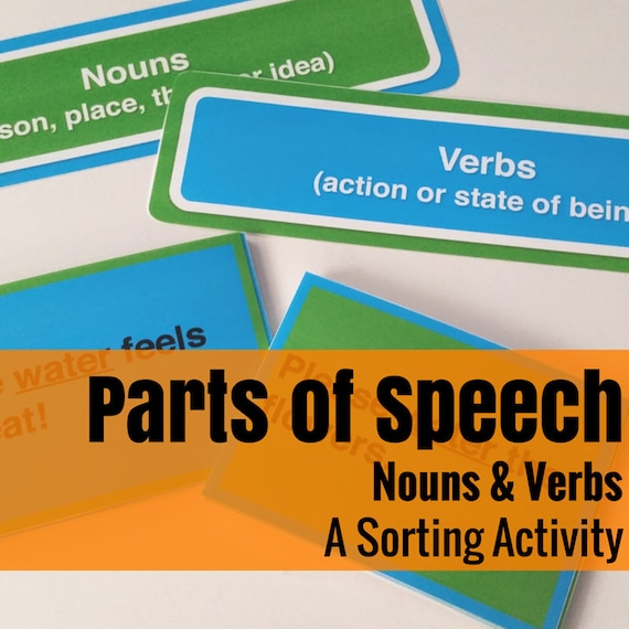 Noun Verb Sort Language Arts Activity