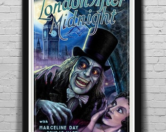 3 SIZES London After Midnight 1927 movie poster Classic Horror Mondo-Style Series #2 by Scott Jackson
