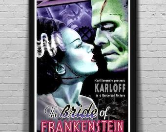 3 SIZES Bride of Frankenstein 1935 Movie Poster Classic Horror Mondo-Style Series #3 by Scott Jackson