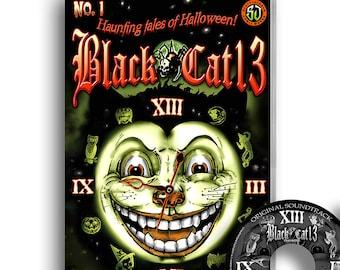 BOOK & CD Halloween comics Black Cat 13 Tales of Halloween #1 BONUS Halloween Music scary soundtrack