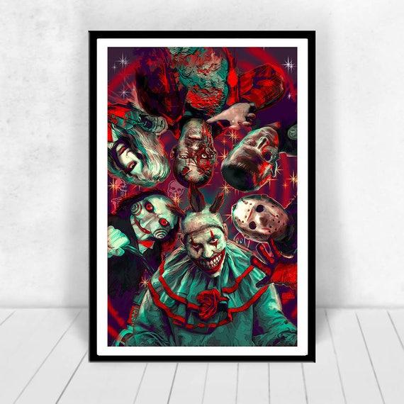 3 sizes SLASHERS print poster Krueger Voorhees Myers Jigsaw Mashup Scott Jackson