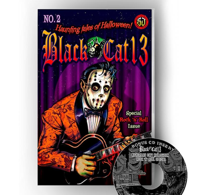 All New Vol 2 Book Cd Halloween Comics Black Cat 13 Tales Etsy