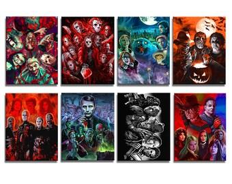 SET OF 8 Magnets - Modern Horror Slashers collection #1