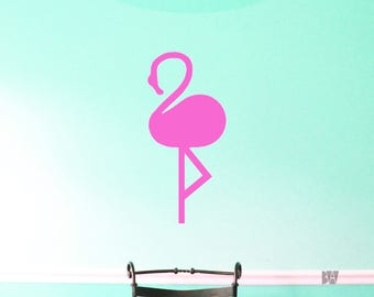 Flamingo Wall Decal. Pink Wall Decor. Girls Room Decals. Wall Decal. Office Decor. Wall sticker. Home decor decals.