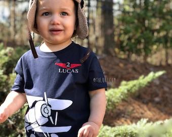 35c89910 Airplane Birthday T-Shirt, Airplane Birthday, Airplane party, Airplane  invite, Toddler Biplane Birthday Shirt, Airplane theme
