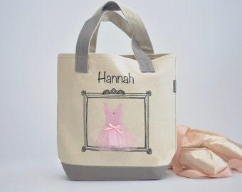 Small Ballerina Tote, Tutu Ballet Bag, Flower Girl Gifts, Personalized Gifts, Tutu Bag, Ballet Bag, Dance Bag, Personalized Girls Dance Bag