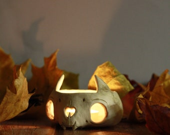 Skull Ceramic Planter/ Pot / Cup, Whimsical Decor