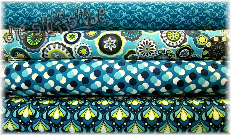 Fabric Package 342 SP Retro in blue image 0