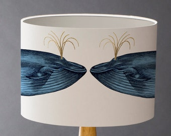 Blue Whale - Large  Drum Lampshade
