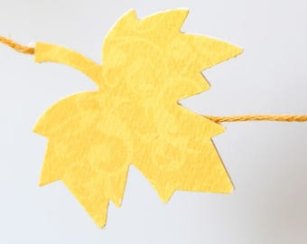 Paper Garland - Maple leaves - Wall decor - Brown and yellow - Decor for Christmas, wedding, party, nursery