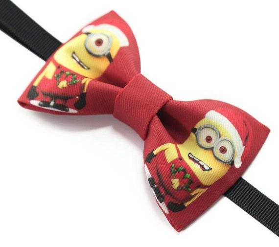 chaussures élégantes style attrayant New York Noël à la main Minion Minions noeud papillon nœud papillon