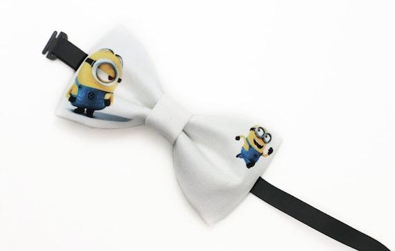 achat spécial nouvelle apparence style roman Cravate noeud papillon Minions jaunes fait main