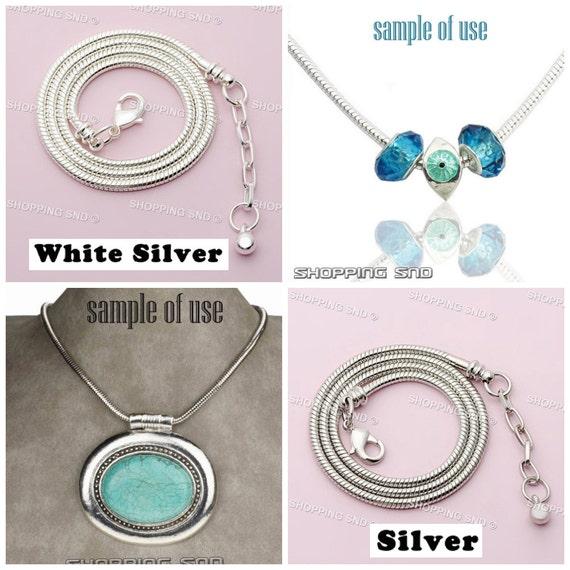 d81a5ffdf4c6 Ajuste de cadena de la serpiente de collar de plata encanto