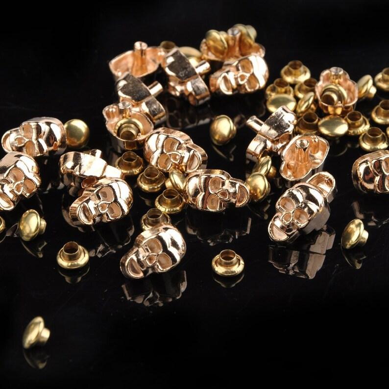 50 jeans rivets rivets décoratifs rivets jeans 9 x 5,5mm 127