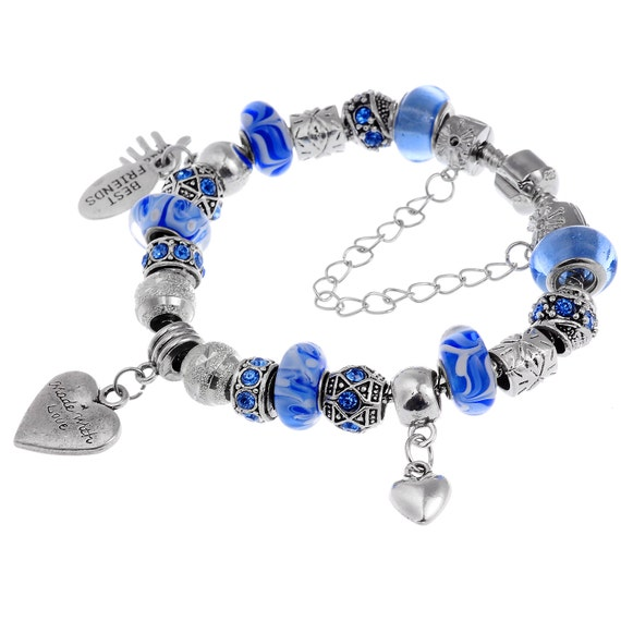 4a7cba573f3d Azul amor europeo pulsera 20cm de tierra mejores amigos