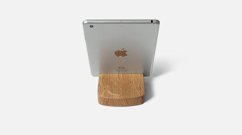 Awesome Wood Ipad Stand Tablet Stand With Engraving And Personalization Awesome Geek Gift Or Nerd Gift Home Interior And Landscaping Palasignezvosmurscom