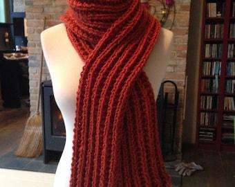 Chuncky basic Ribbed scarf