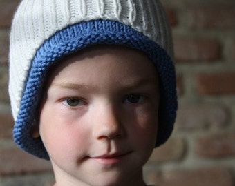 Cowl-hat, cowl + hat two colors