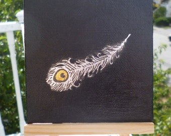 Metallic Feather Painting