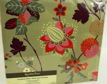 Recollections 12x12 Tropical Flowers Scrapbook