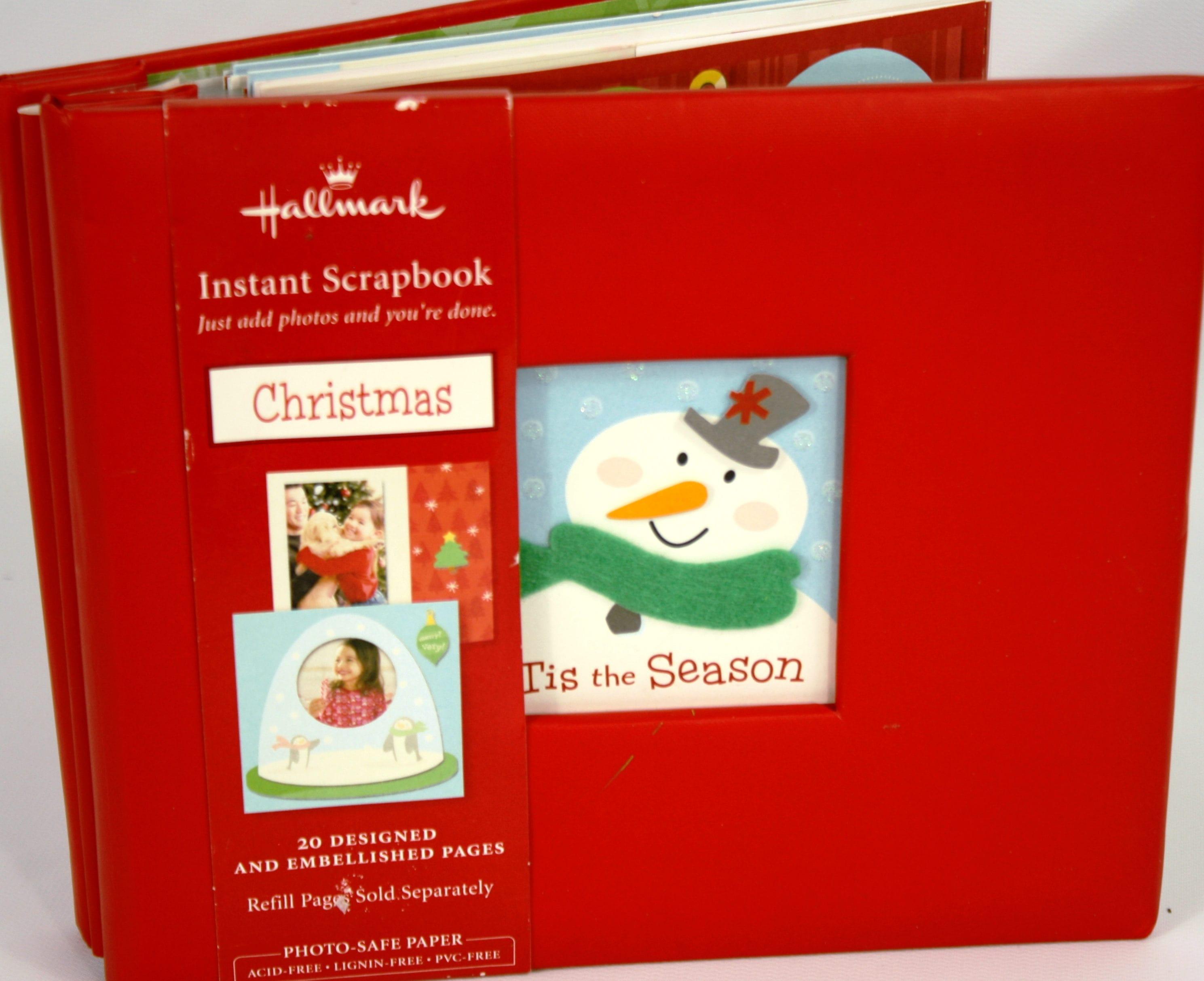 Hallmark Instant Christmas Scrapbook 20 Designed Embellished Etsy