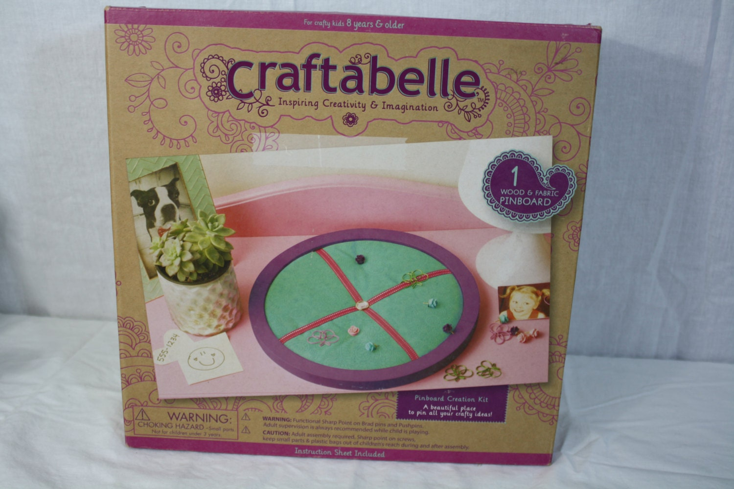 Craftabelle Creation Kits Pinboard Creation 1 Wood   Fabric  c9debbc0e