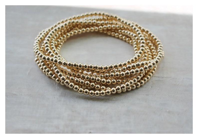 94601494a57 Gold Bead Ball Bracelet Gold Filled Beaded Bracelet Gold | Etsy