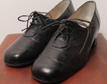 Black leather Richelieu (T4)