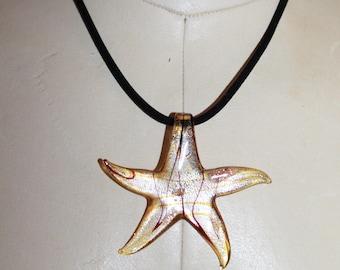 Star glass necklace