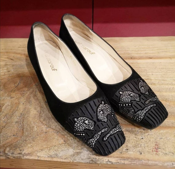 El Marouf black velvet shoes (T 35.5)