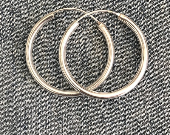 "Silver ''Alicia"" Hoop Earrings / Sterling Silver / Silver 925 Hoops / Boho Hoop Earrings / Boho Silver Jewelry"