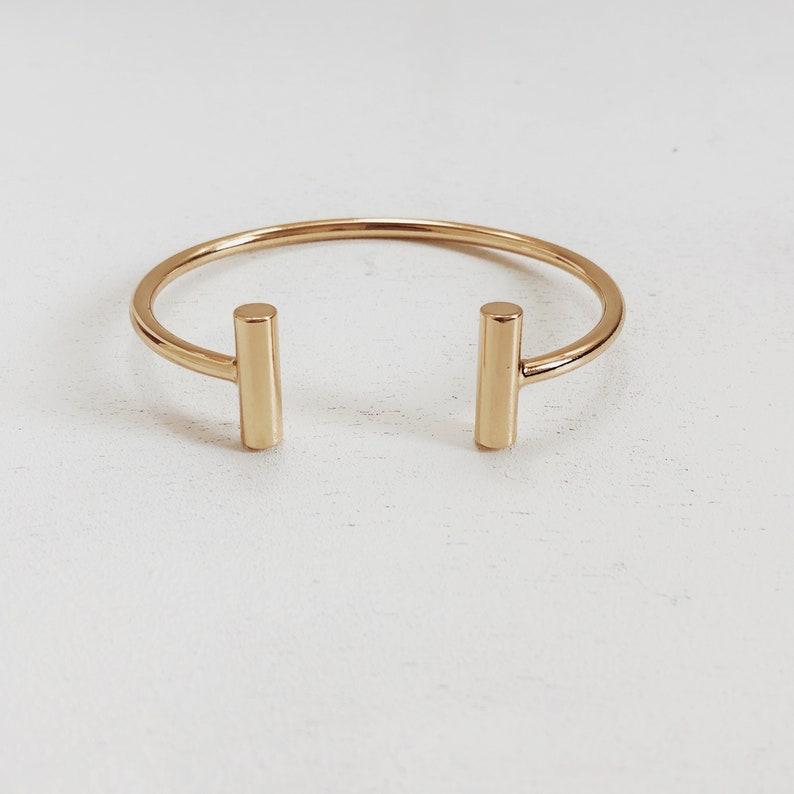 4730f037f08 Tiana Cuff Bracelet / Gold or Silver Bracelet / Gold or Silver | Etsy