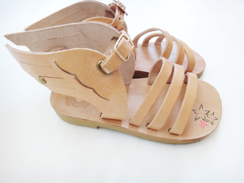 f07900134b2131 Hermes winged Kids Baby Sandals Genuine Greek High Quality