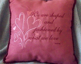 Embroidered Love Pillow