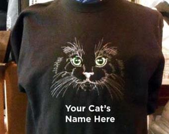 Cat Sweatshirt with Cat's Name