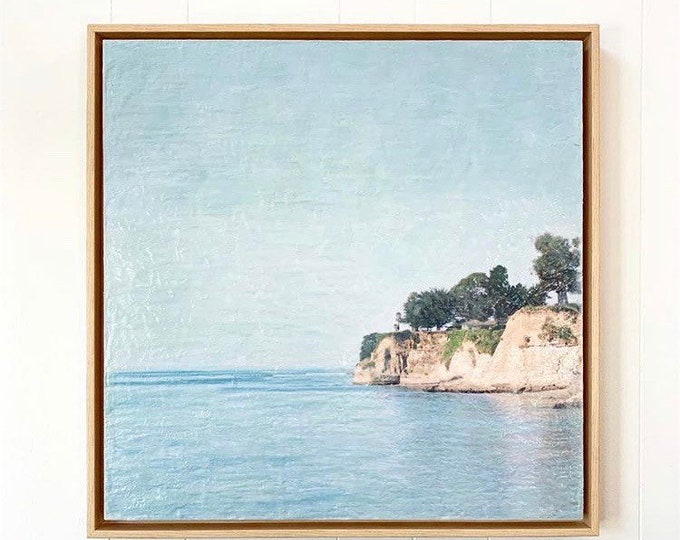 Cliffs - 12x12 Limited Edition Photo Encaustic Painting - Framed