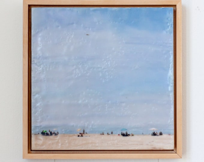 Beach Life - Limited Edition Photo Encaustic Painting - Framed