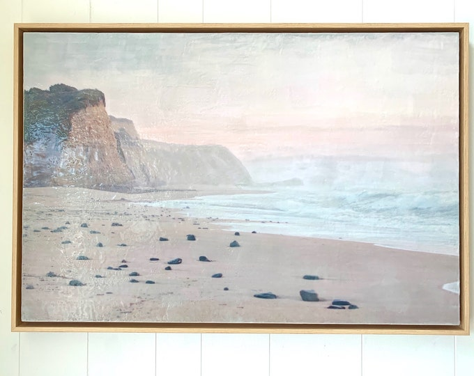 Pacific Dusk - Framed 24x36 Limited Edition Photo Encaustic