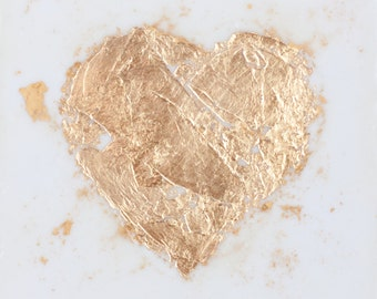 Scatter Gold Leaf Heart - 6x6 inches
