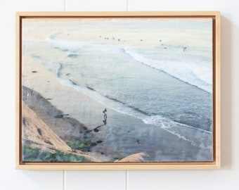 Day's End - 9x12 Limited Edition Photo Encaustic Painting - Framed