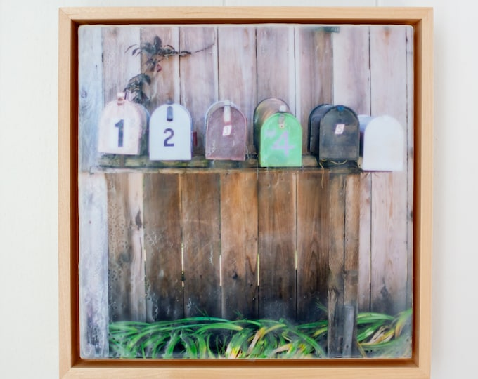 1, 2, 3, 4, 5 - Limited Edition Photo Encaustic Painting - Framed