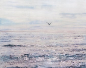 Flight - Limited Edition Photo Encaustic Painting - Framed