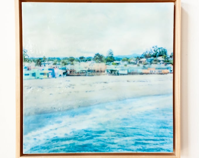 Village View - Limited Edition Photo Encaustic Painting - Framed