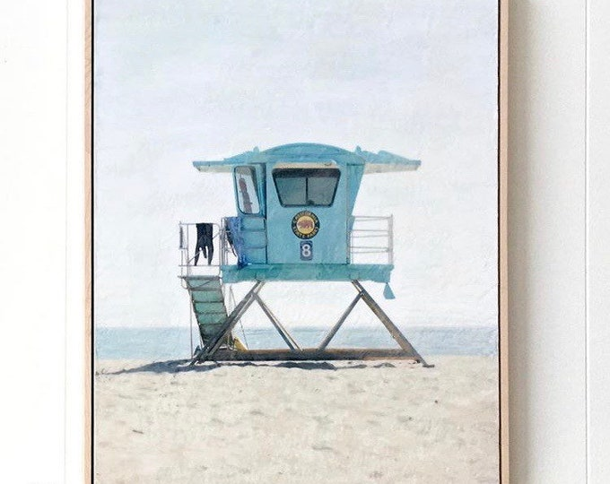 Tower 8 - 24x36 Limited Edition Photo Encaustic Painting - Framed