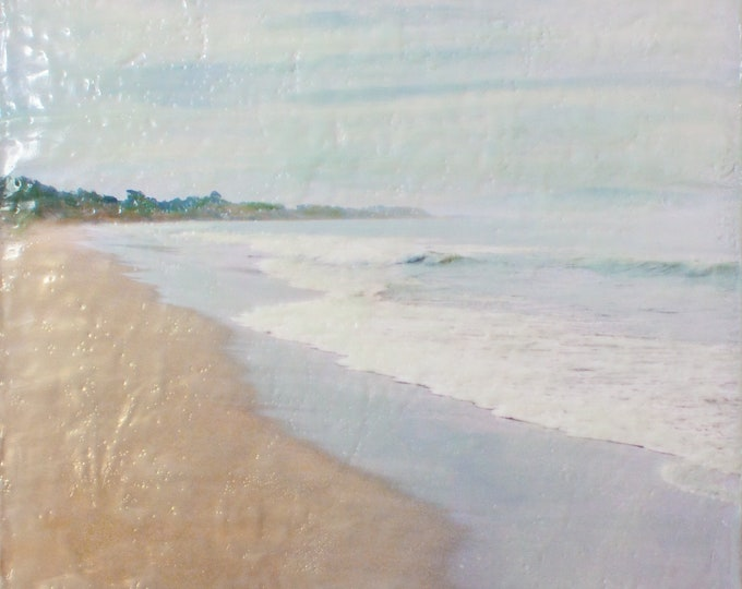 Morning On Hidden Beach - Limited Edition Photo Encaustic Painting - Framed