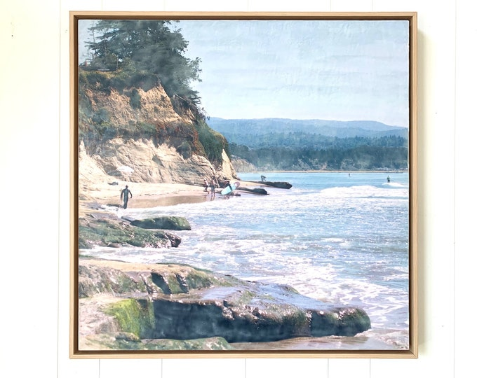 Sharks Cove 30x30 - Framed Limited Edition Photo Encaustic
