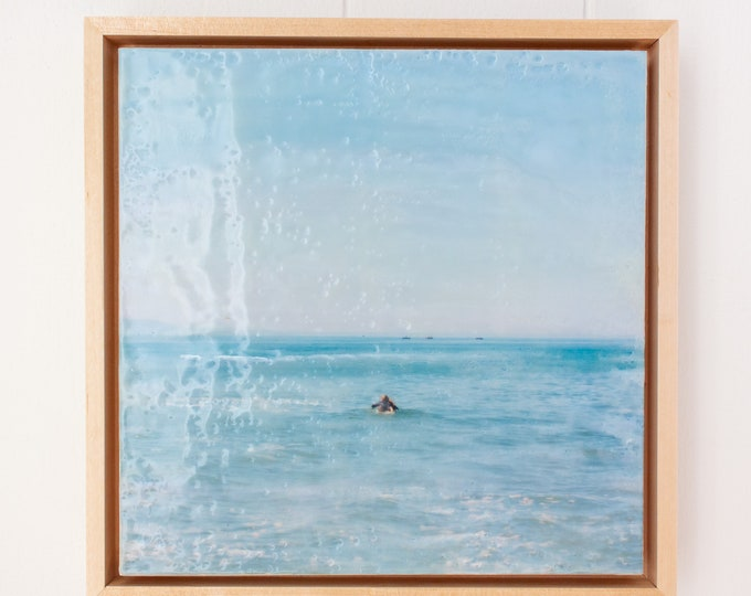 Heading Out - 8x8 Framed Limited Edition Photo Encaustic