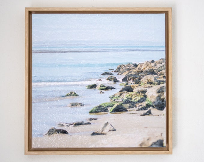 Capitola Jetty 16x16 - Limited Edition Photo Encaustic