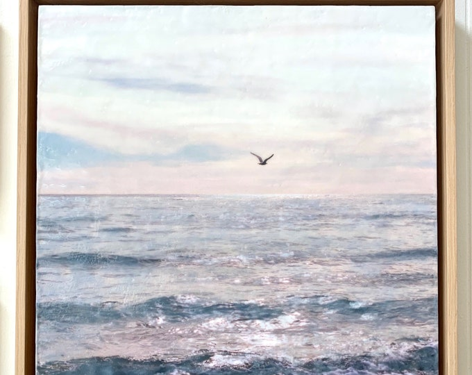 Flight - 16x16 Limited Edition Photo Encaustic Painting - Framed