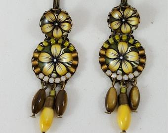 Happy Mustard Flower Earrings